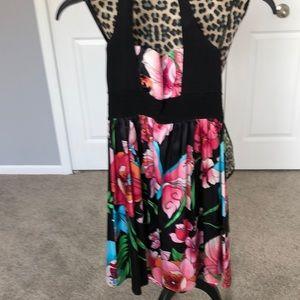 bebe Dresses - Floral halter style sundress